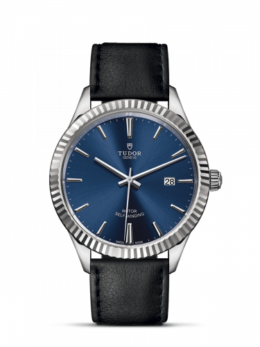 Tudor M12710-0027 : Style 41 Stainless Steel / Fluted / Blue / Strap
