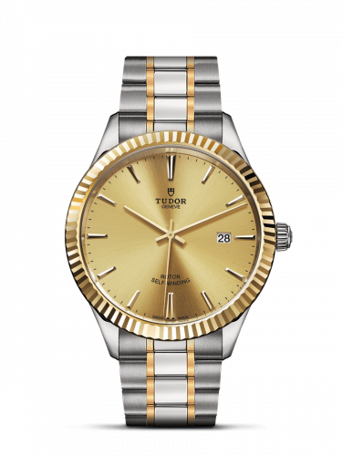 M12713-0001 : Tudor Style 41 Stainless Steel / Yellow Gold / Fluted / Champagne / Bracelet