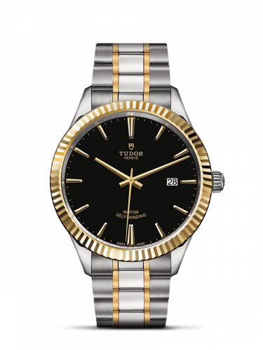Tudor M12713-0005 : Style 41 Stainless Steel / Yellow Gold / Fluted / Black / Bracelet