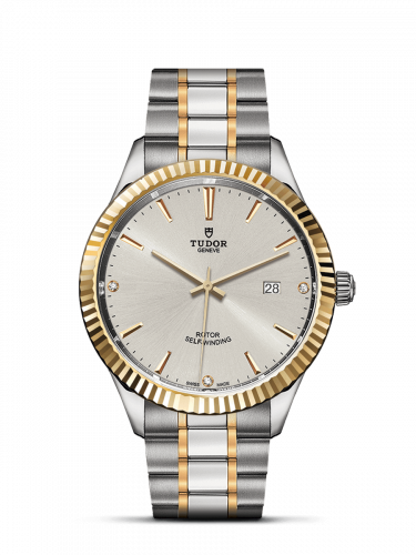 Tudor M12713-0009 : Style 41 Stainless Steel / Yellow Gold / Fluted / Silver-Diamond / Bracelet