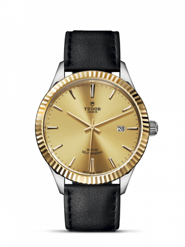 Tudor M12713-0017 : Style 41 Stainless Steel / Yellow Gold / Fluted / Champagne / Strap