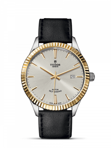 Tudor M12713-0018 : Style 41 Stainless Steel / Yellow Gold / Fluted / Silver / Strap