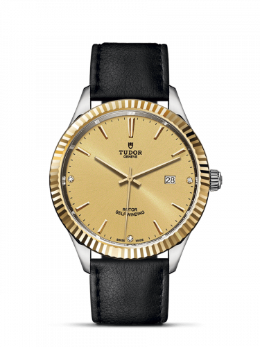 Tudor M12713-0020 : Style 41 Stainless Steel / Yellow Gold / Fluted / Champagne-Diamond / Strap