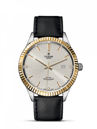 Tudor M12713-0021 : Style 41 Stainless Steel / Yellow Gold / Fluted / Silver-Diamond / Strap