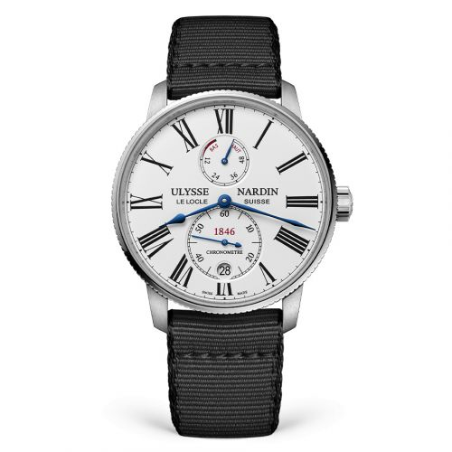 Ulysse Nardin 1183-310-0A/0A : Marine Torpilleur Stainless Steel / White / Fabric