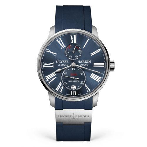 Ulysse Nardin 1183-310-3/43 : Marine Torpilleur Stainless Steel / Blue / Rubber