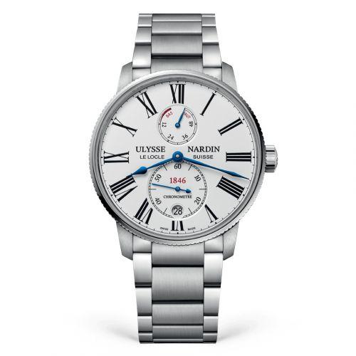 Ulysse Nardin 1183-310-7M/40 : Marine Torpilleur Stainless Steel / White / Bracelet