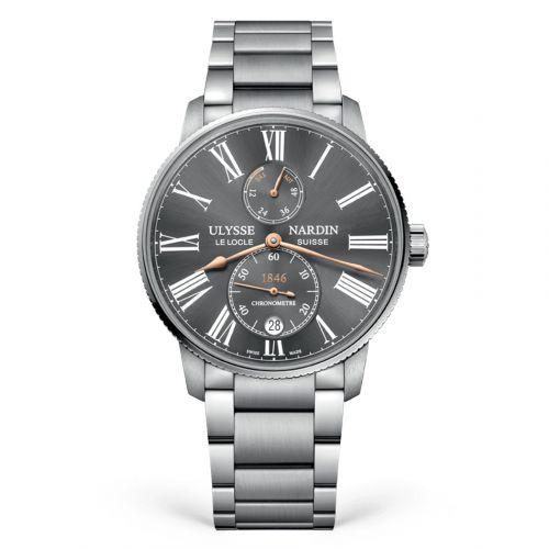 Ulysse Nardin 1183-310-7M/42-BQ : Marine Torpilleur Stainless Steel / Grey / Bracelet