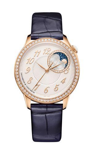 8005F/000R-B498 : Vacheron Constantin Égérie Moonphase 37 Pink Gold / Diamond / Silver