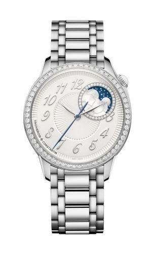 Vacheron Constantin 8005F/120A-B497 : Égérie Moonphase 37 Stainless Steel / Diamond / Silver / Bracelet