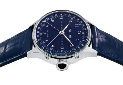Van der Gang Watches 20008 : 20008 Stainless Steel / Blue