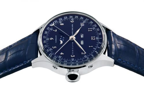 Van der Gang Watches 20008M : 20008M Stainless Steel / Blue