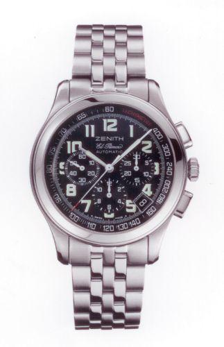 Zenith 03.0510.400/24.M510 : Class Sport El Primero Stainless Steel / Black / Bracelet