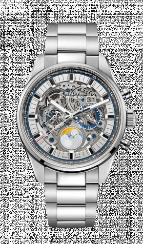 Zenith 03.2530.4047/78.M2530 : El Primero Chronomaster Grande Date Full Open Stainless Steel / Bracelet