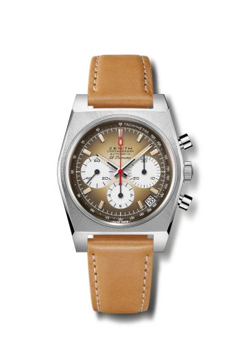 Zenith 03.A384.400/385.C855 : El Primero A385 Revival Stainless Steel / Brown / Strap