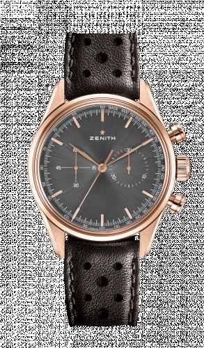 Zenith 18.2150.4069/91.C812 : El Primero 146 Rose Gold / Grey / Calf