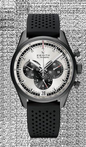 Zenith 24.2041.400/01.R576 : El Primero Chronomaster 42 Aluminium / Silver / Rubber Strap