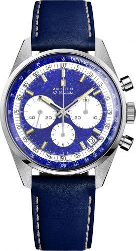 Zenith 40.P386.400/57.C842 : El Primero A386 Platinum / Lapis Lazuli / Phillips