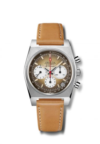 Zenith Ref 03.A384.400/385.C855 : El Primero A385 Revival Stainless Steel / Brown