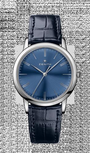 Zenith 03.2290.679/51.C700 : Elite Classic Stainless Steel / Blue / Alligator