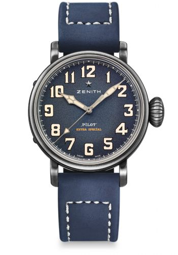 Zenith 11.1940.679/53.C808 : Pilot Type 20 Extra Special 40 Aged Stainless Steel / Blue