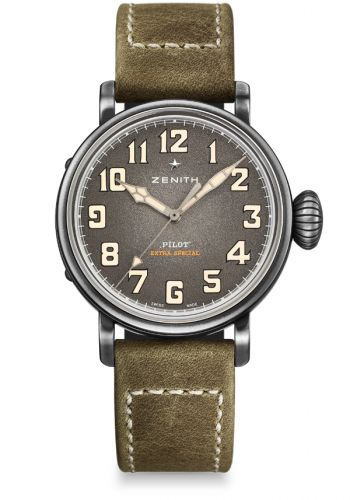 Zenith 11.1940.679/63.C800 : Pilot Type 20 Extra Special 40 Aged Stainless Steel / Green