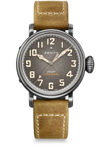 Zenith 11.1940.679/91.C807 : Pilot Type 20 Extra Special 40 Aged Stainless Steel / Grey