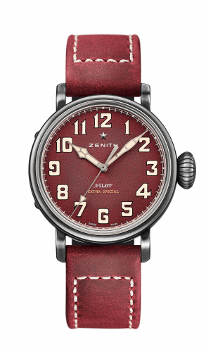 Zenith 11.1941.679/94.C814 : Pilot Type 20 Special Edition Aged Stainless Steel / Red / Strap