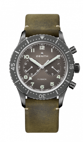 Zenith 11.2240.405/21.C773 : Cronometro Tipo CP-2 Flyback Aged Steel / Slate