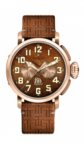 Zenith 18.2430.4069/77.C811 : Pilot Type 20 Chronograph Trinidad 50th Anniversary Edition Rose Gold