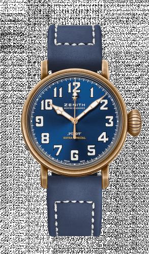 Zenith 29.1940.679/57.C808 : Pilot Type 20 Extra Special Bronze / Blue / Strap