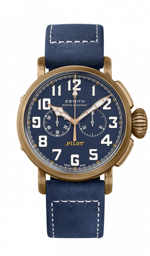 Zenith 29.2430.4069/57.C808 : Pilot Type 20 Extra Special Chronograph Bronze / Blue