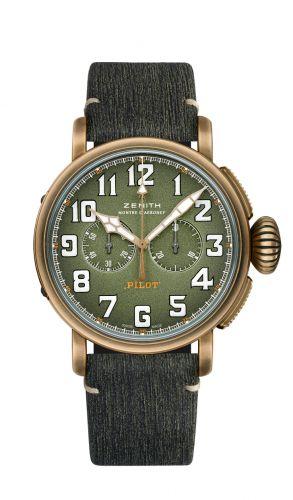 Zenith 29.2430.4069/63.C813 : Pilot Type 20 Chronograph Adventure Bronze / Khaki / Matrix
