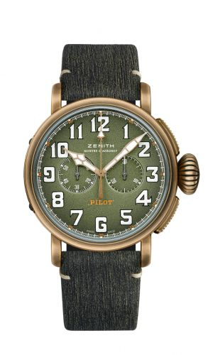 Zenith 29.2430.4069/63.I001 : Pilot Type 20 Chronograph Adventure Bronze / Khaki / Matrix