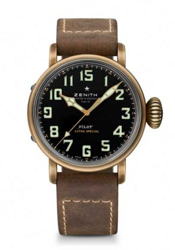 Zenith 29.2430.679/21.C753 WT : Pilot Type 20 Extra Special Bronze WorldTempus