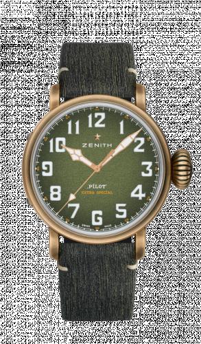 Zenith 29.2430.679/63.C813 : Pilot Type 20 Adventure 45mm Bronze / Khaki / Matrix