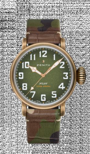 Zenith 29.2430.679/63.C814 : Pilot Type 20 Adventure 45mm Bronze / Khaki / Camo