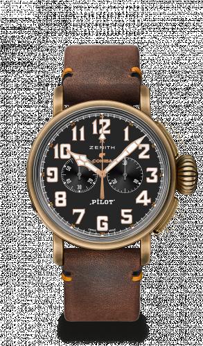 Zenith 29.2432.4069/27.C794 : Pilot Type 20 Cohiba Edition Chronograph Bronze / Black